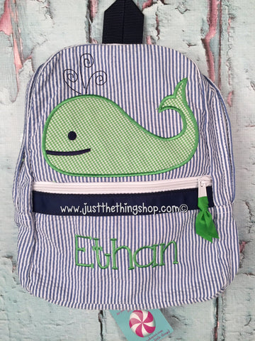 Boy Whale Backpack - Just The Thing Shop