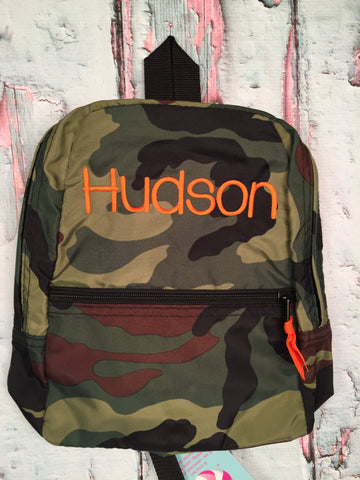 Camo Monogram Nylon Backpack - Just The Thing Shop