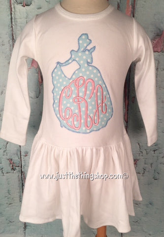 Cinderella Silhouette Monogram Pleat Bottom Dress - Just The Thing Shop