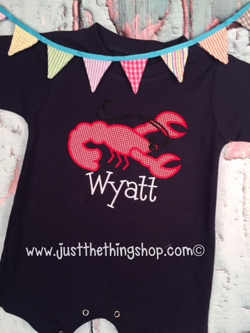 Crawfish Applique Romper - Boys - Just The Thing Shop