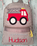 Fire Truck Backpack - Just The Thing Shop