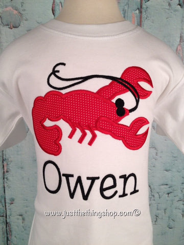 Crawfish Applique Boys Shirt - Just The Thing Shop