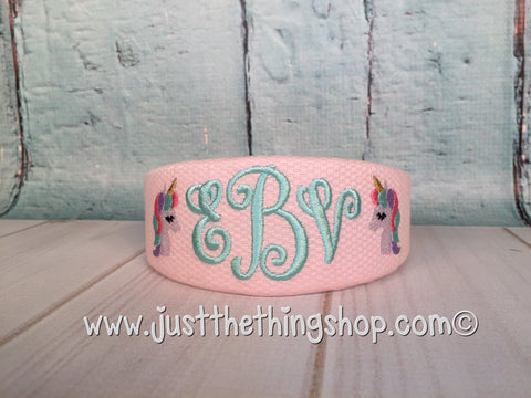 Unicorn Monogrammed Headband