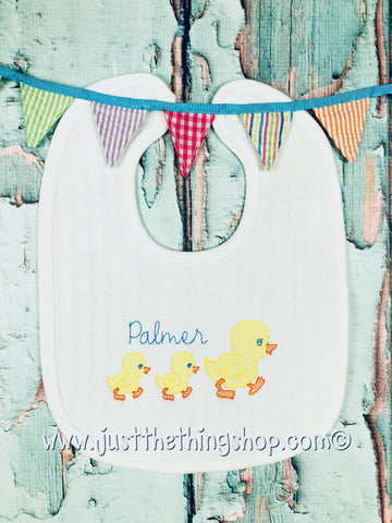 Baby Ducks Bibs and Burps - Just The Thing Shop