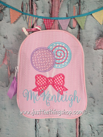 Lollipops Applique Gumdrop Lunch Box - Just The Thing Shop