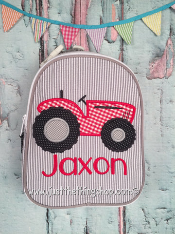 Tractor Style 2 Boy Gumdrop Lunch Box