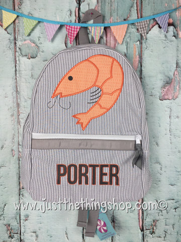 Shrimp Applique Backpack - Just The Thing Shop