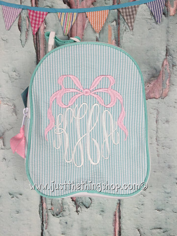 Bow Monogram for Girls Gumdrop Lunch Box - Just The Thing Shop