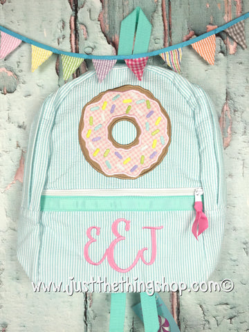 Donut Applique Backpack - Just The Thing Shop