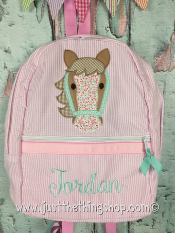 Horse Face Head Applique Backpack - Just The Thing Shop