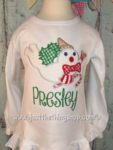 Mr Bingle Applique Girls Shirt - Just The Thing Shop