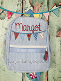 Bunting Name Applique Backpack - Just The Thing Shop
