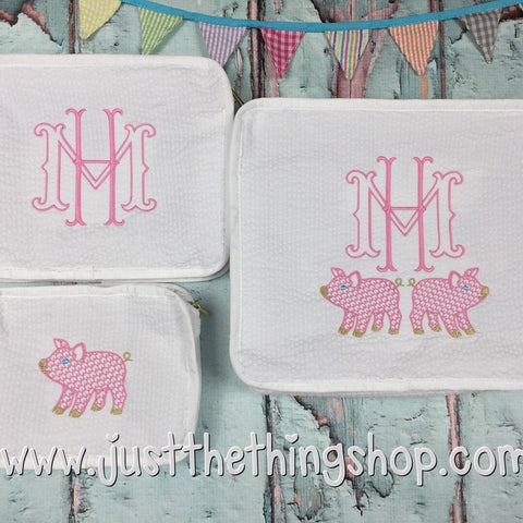Pig Monogram Stacking Trio - Just The Thing Shop