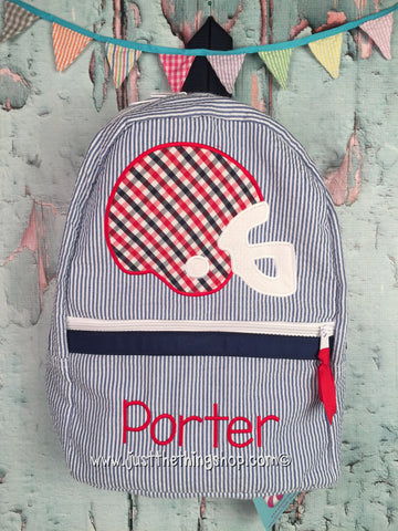 Football Helmet Backpack - Just The Thing Shop