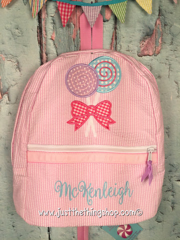 Lollipops Applique Backpack - Just The Thing Shop