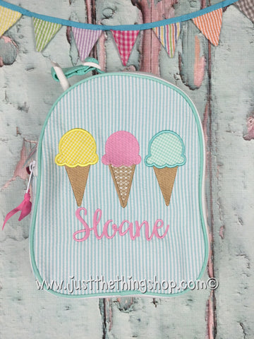 Ice Cream Cone Trio Gumdrop Lunch Box - Just The Thing Shop
