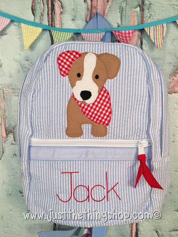 Bandana Puppy Dog Applique Backpack - Just The Thing Shop