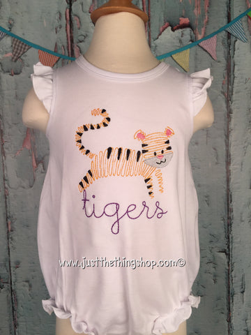 TIGERS Angel Sleeve Baby Bubble - Girls