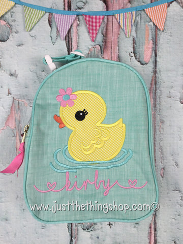 Miss Duckie Applique Gumdrop Lunch Box - Just The Thing Shop