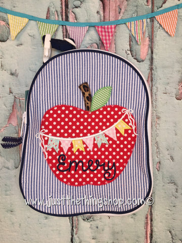 Apple Bunting Applique Gumdrop Lunch Box