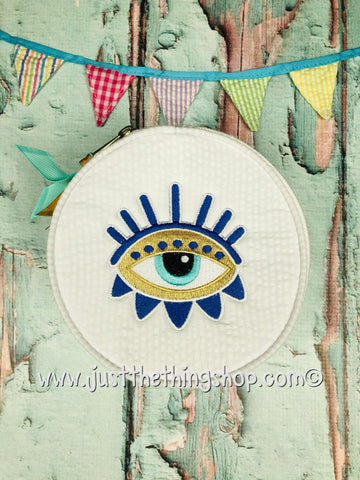 Evil Eye Jewelry Button Bags