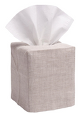 Natural Linen Monogramed Tissue Box Cover - Just The Thing Shop