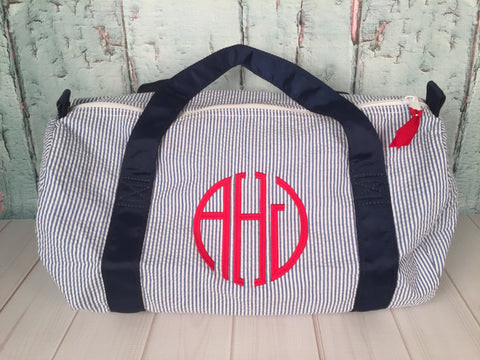 Circle (Modern) Monogram  Duffel - Just The Thing Shop