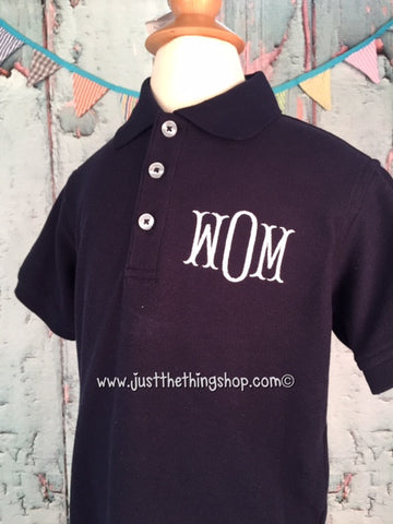 Boys Monogram Polo Shirt - Just The Thing Shop