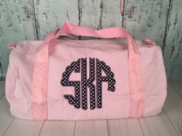 Scallop Circle Applique Font Duffel - Just The Thing Shop