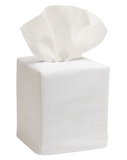 White Linen Monogramed Tissue Box Cover - Just The Thing Shop