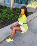 Splash of Neon Lime Green - DFGbydihannfg
