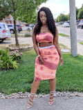 Heat Wave Medi Skirt Set - DFGbydihannfg