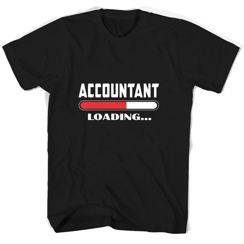 Accountant Loading T Shirts