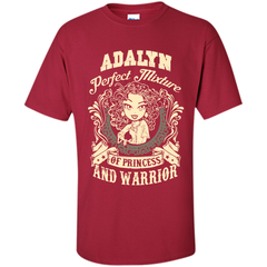 Adalyn Perfect Mixture Of Princess And Warrior T Shirts Custom Ultra Cotton - Family Reunion Tee
