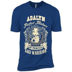 Adalyn Perfect Mixture Of Princess And Warrior T Shirts Next Level Premium Short Sleeve Tee - Family Reunion Tee