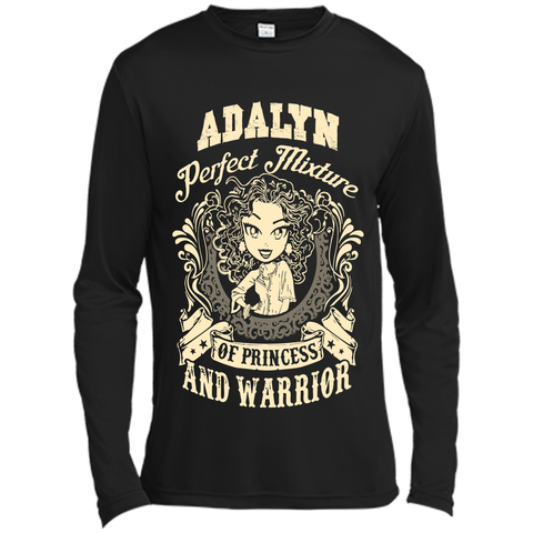 Adalyn Perfect Mixture Of Princess And Warrior T Shirts Black / Small Long Sleeve Moisture Absorbing Shirt - Family Reunion Tee