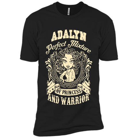 Adalyn Perfect Mixture Of Princess And Warrior T Shirts Black / Small Next Level Premium Short Sleeve Tee - Family Reunion Tee