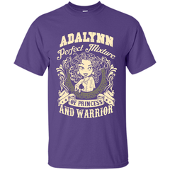 Adalynn Perfect Mixture Of Princess And Warrior T Shirts Custom Ultra Cotton - Family Reunion Tee