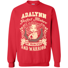 Adalynn Perfect Mixture Of Princess And Warrior T Shirts Printed Crewneck Pullover Sweatshirt 8 oz - Family Reunion Tee
