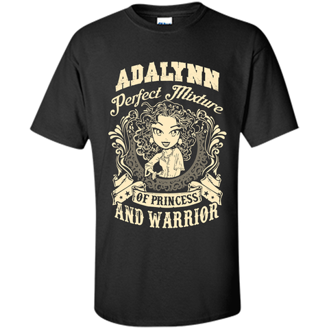 Adalynn Perfect Mixture Of Princess And Warrior T Shirts Black / Small Custom Ultra Cotton - Family Reunion Tee