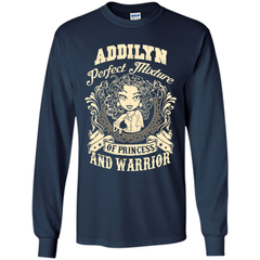 Addilyn Perfect Mixture Of Princess And Warrior T Shirts LS Ultra Cotton Tshirt - Family Reunion Tee