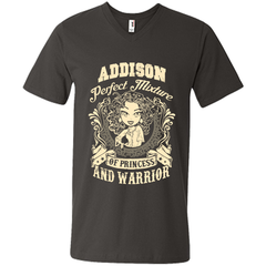 Addison Perfect Mixture Of Princess And Warrior T Shirts Mens Printed V-Neck T - Family Reunion Tee