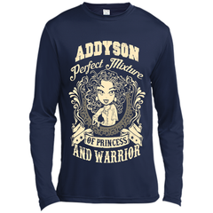 Addyson Perfect Mixture Of Princess And Warrior T Shirts Long Sleeve Moisture Absorbing Shirt - Family Reunion Tee