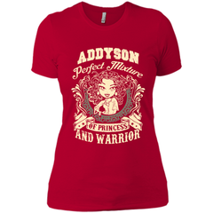 Addyson Perfect Mixture Of Princess And Warrior T Shirts Next Level Ladies Boyfriend Tee - Family Reunion Tee