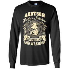 Addyson Perfect Mixture Of Princess And Warrior T Shirts LS Ultra Cotton Tshirt - Family Reunion Tee