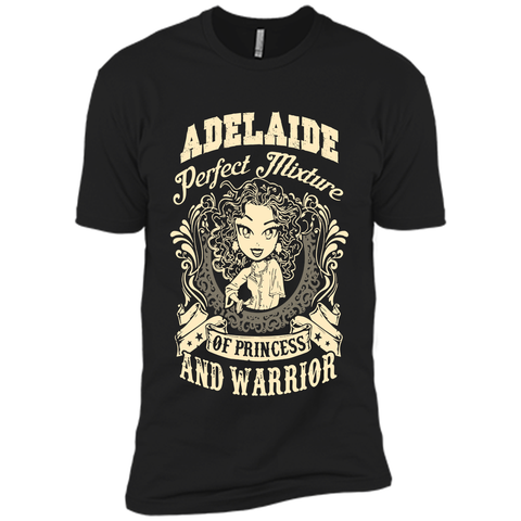 Adelaide Perfect Mixture Of Princess And Warrior T Shirts Black / Small Next Level Premium Short Sleeve Tee - Family Reunion Tee