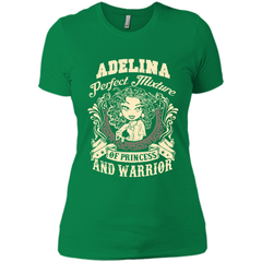 Adelina Perfect Mixture Of Princess And Warrior T Shirts Next Level Ladies Boyfriend Tee - Family Reunion Tee