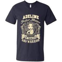 Adeline Perfect Mixture Of Princess And Warrior T Shirts Mens Printed V-Neck T - Family Reunion Tee