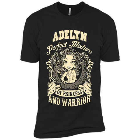 Adelyn Perfect Mixture Of Princess And Warrior T Shirts Black / Small Next Level Premium Short Sleeve Tee - Family Reunion Tee