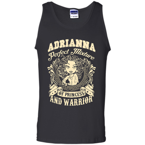 Adrianna Perfect Mixture Of Princess And Warrior T Shirts Black / Small Tank Top - Family Reunion Tee